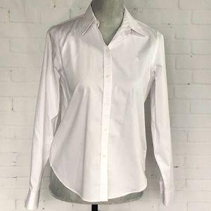 Ralph Lauren Crisp White Button Down Shirt SZ PS